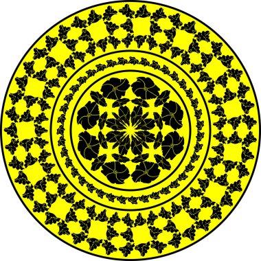 Yellow ornament. Mallow