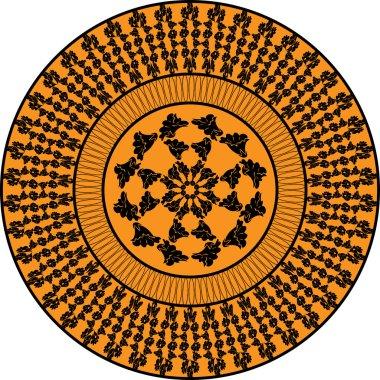 Orange ornament. Mallow