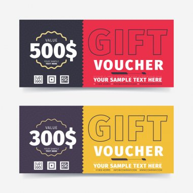 Gift voucher vector template