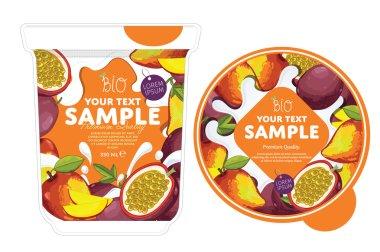 Passion fruit mango Yogurt Packaging Design
