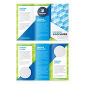 Šablona návrhu obchodní brožura trojdílné
