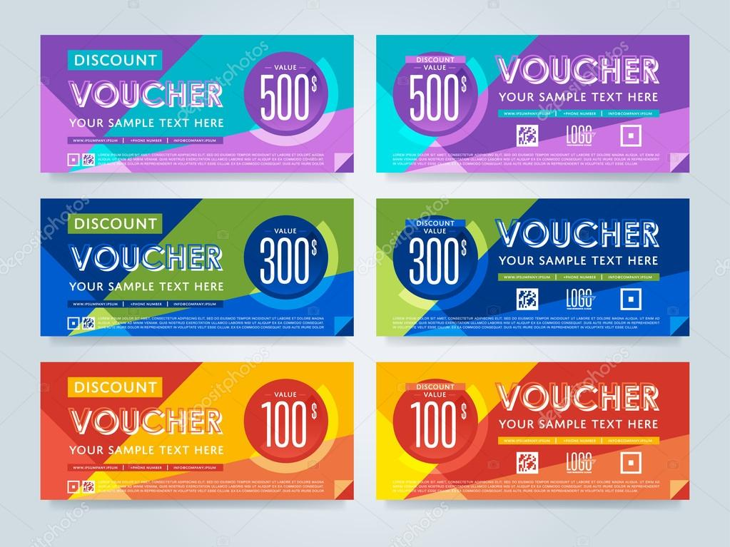 Gift voucher template vector layout stock vector gift discount voucher template vector layout special offer coupon business voucher layout vector by studioworkstock accmission Choice Image