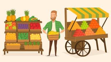 Farmers market. Street food