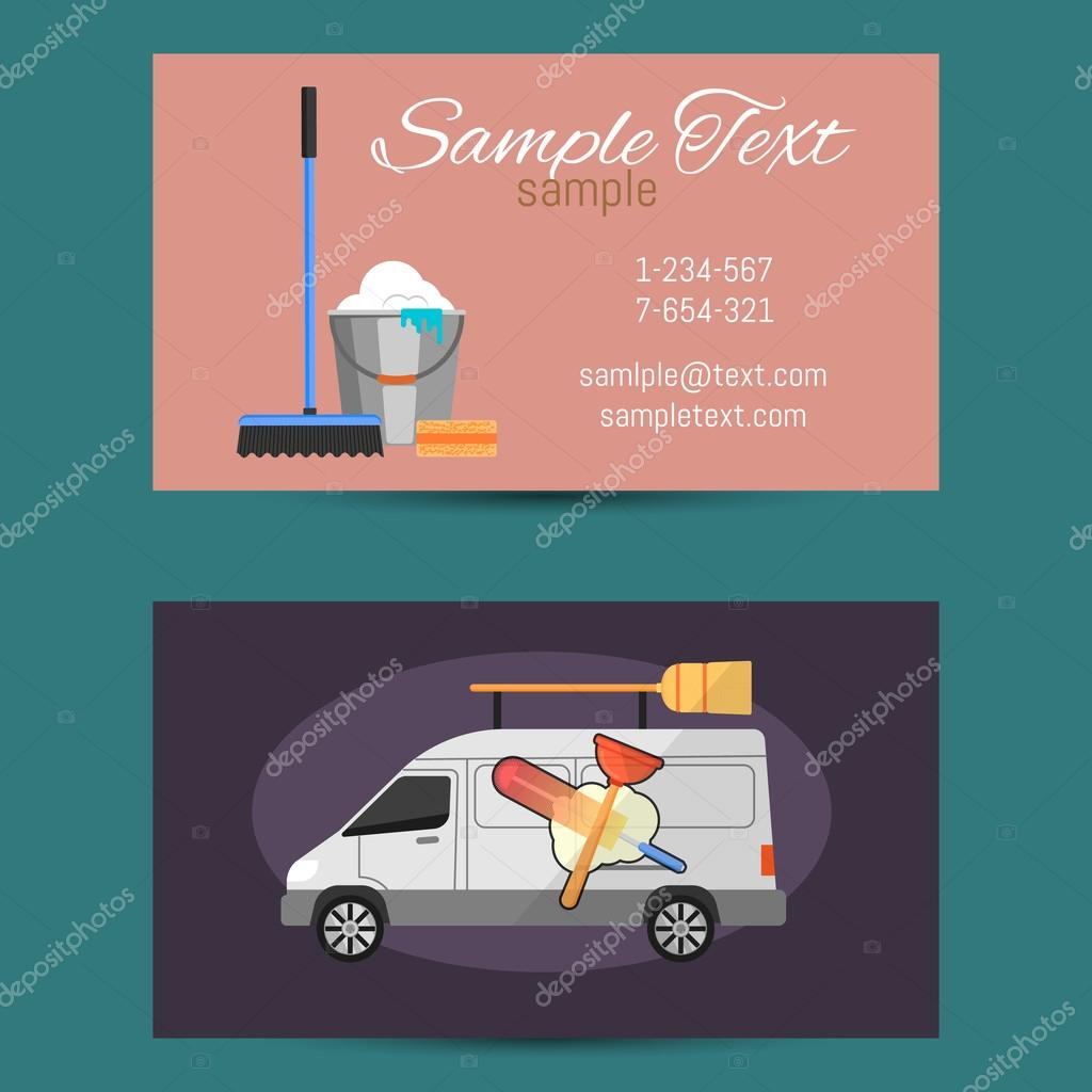 Business card of cleaning service — Stock Vector © studioworkstock ...