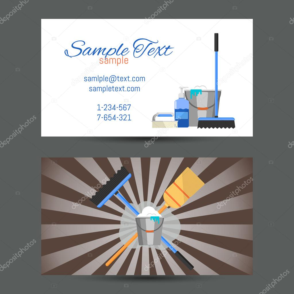 Business card of cleaning service stock vector studioworkstock business card of cleaning service stock vector 117839696 magicingreecefo Images