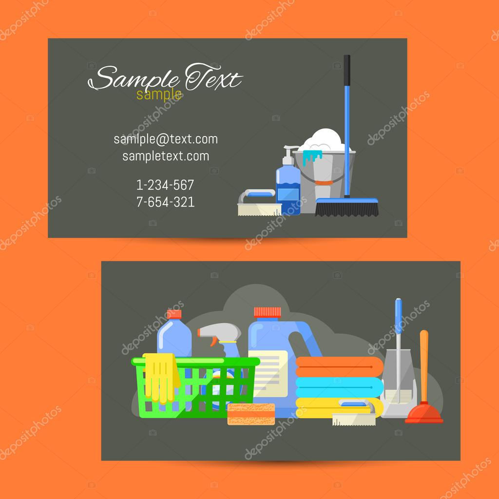 Business card of cleaning service stock vector studioworkstock business card of cleaning service stock vector 118420010 magicingreecefo Gallery