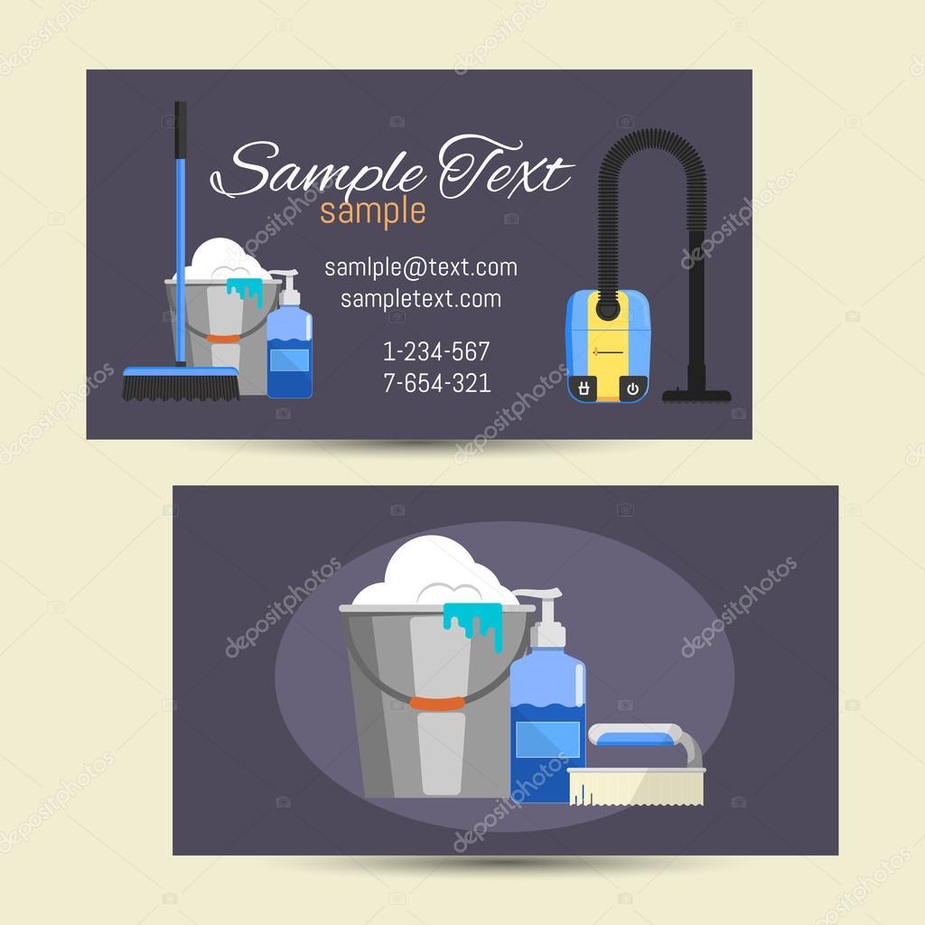 Carte De Visite Du Service Nettoyage Image Vectorielle