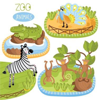 Set of vector animals.