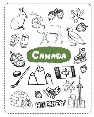 Vector set of tourist attractions.