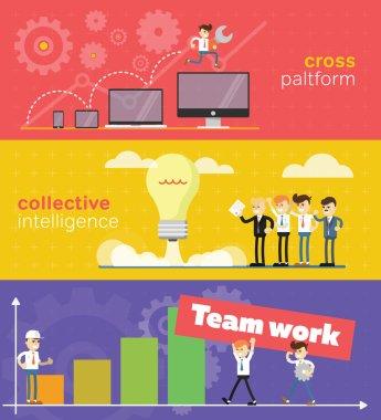Business concept of teamwork.