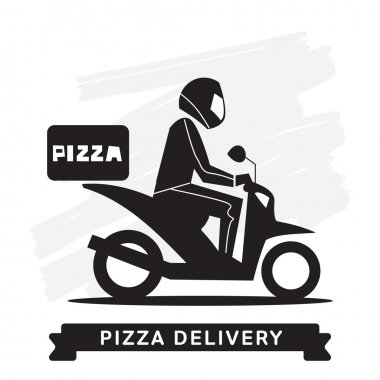 Pizza Delivery Service, Vector icon.