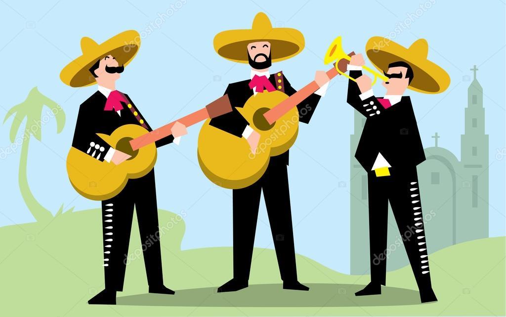 ᐈ Mariachis Para Colorear Imágenes De Stock Dibujos Banda