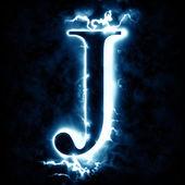 Photo Lightning letter J