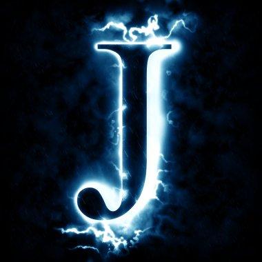 Lightning letter J