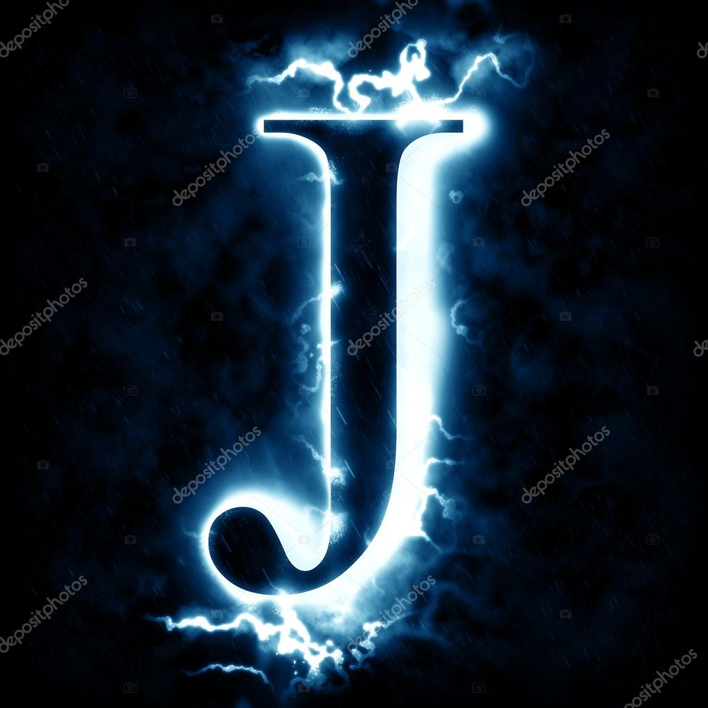 Lightning letter J 12