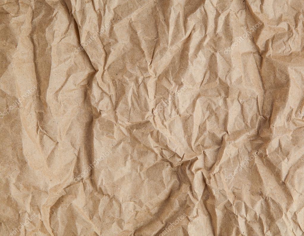 Textura De Papel Arrugado Marrón Antiguo