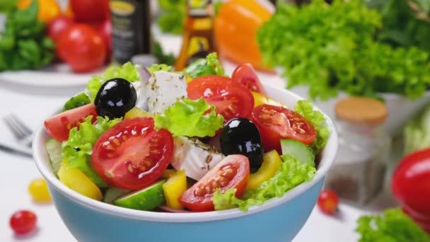Fresh vegetable salad, mediterranean cuisine greek salad