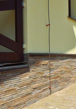 House Lightning rod system. Close up.