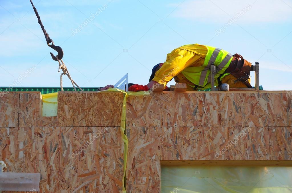Contratista de edificio Modular marco madera contrachapada Junta ...