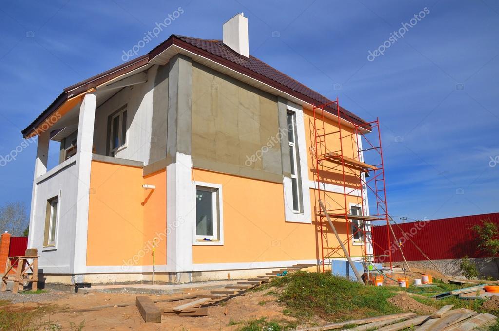 Bau Oder Reparatur Des Landlichen Hauses Mit Traufe Windows