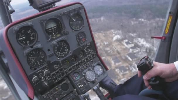 Vue au système de commande pilote maintenir le levier de l ...