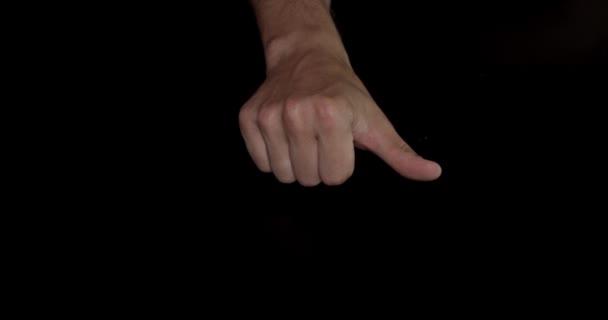 Gesta rukou - počítání na ruce člověka od 1 do 5