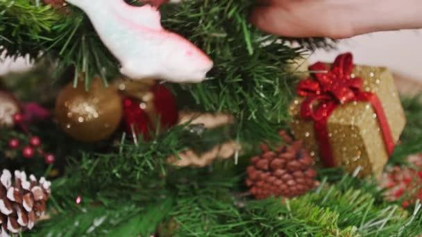 Dekorace vánoční stromek ryb hračky