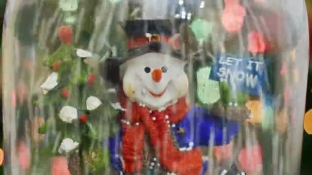 Hóember és hópelyhek. Hagyja, hogy a hó. Hópelyhek