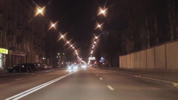 Petrohrad, Rusko - 1 listopadu 2014: Pohled na noční město