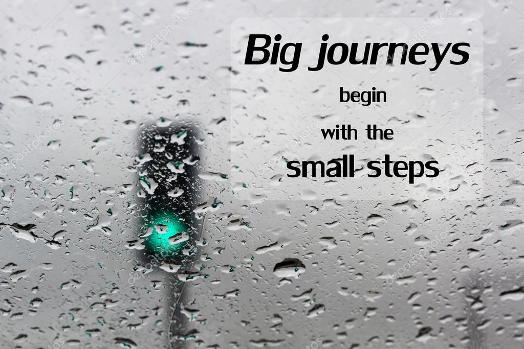 Word Big Journeys Begin With The Small Steps Inspirational