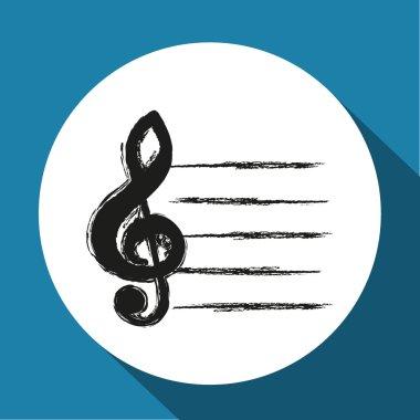 Vector black music icon