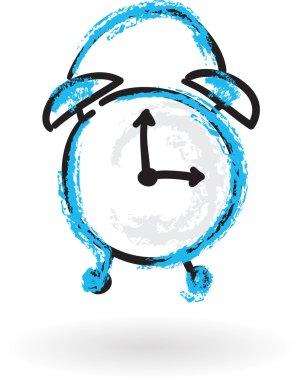 Sketch clock, vector