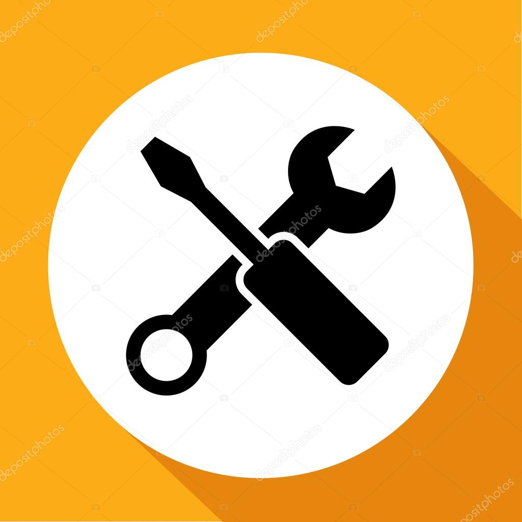 Wrench key sign icon