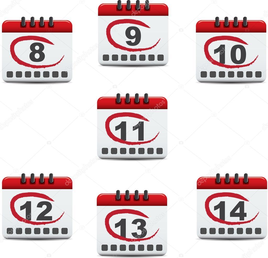 sunrise calendar icons s