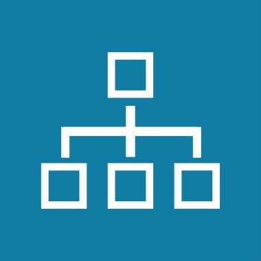 Network block diagram. Black outline flat icon