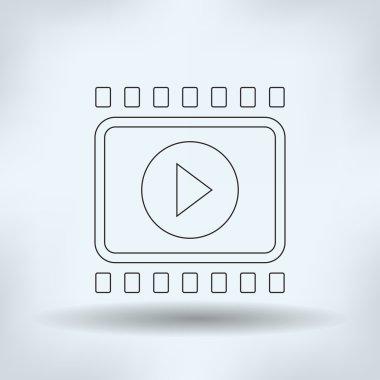 video icon, vector illustration