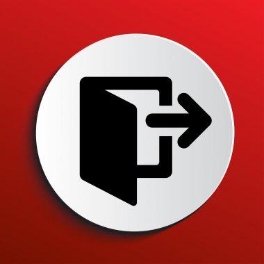 Logout icon eps 10