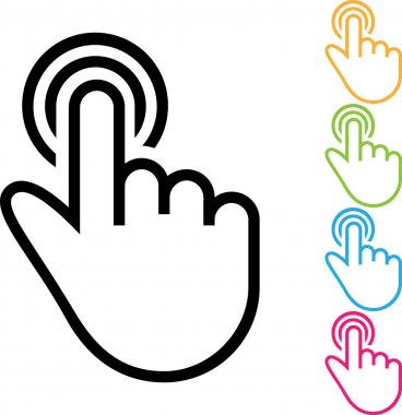 Simple Illustration of a Hand Gesture: One Finger Draw