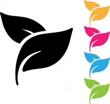 vector leaf, nature, organic icon, logo isolated