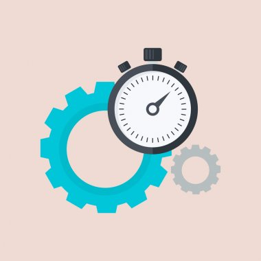 icon with cog and stopwatch