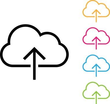 cloud upload icon eps10
