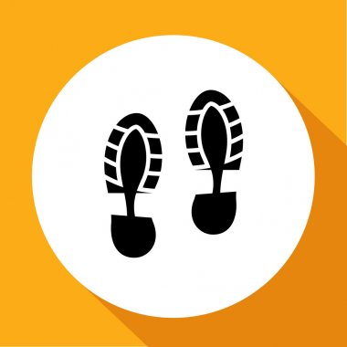Footprint, shoes and sandals print - illustration