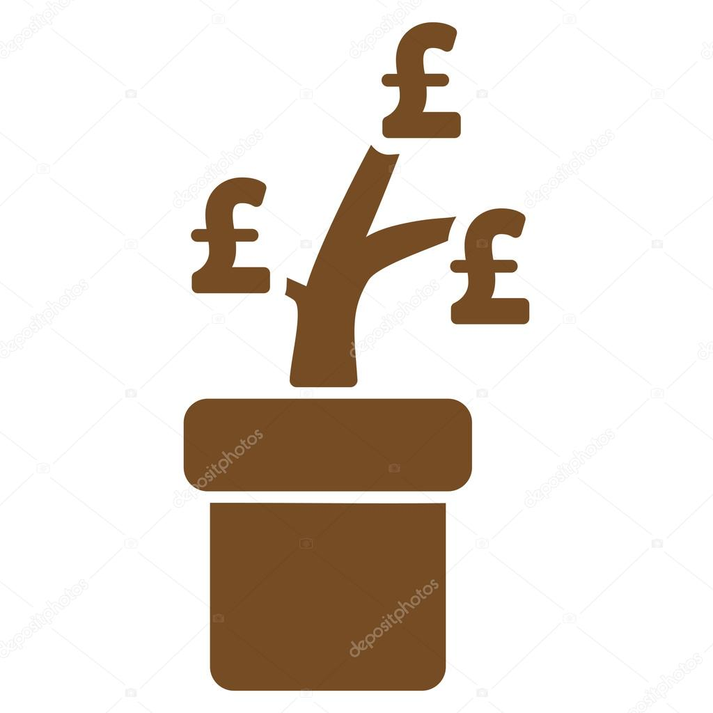 Pound Business Project Plant Flat Vector Icon Symbol