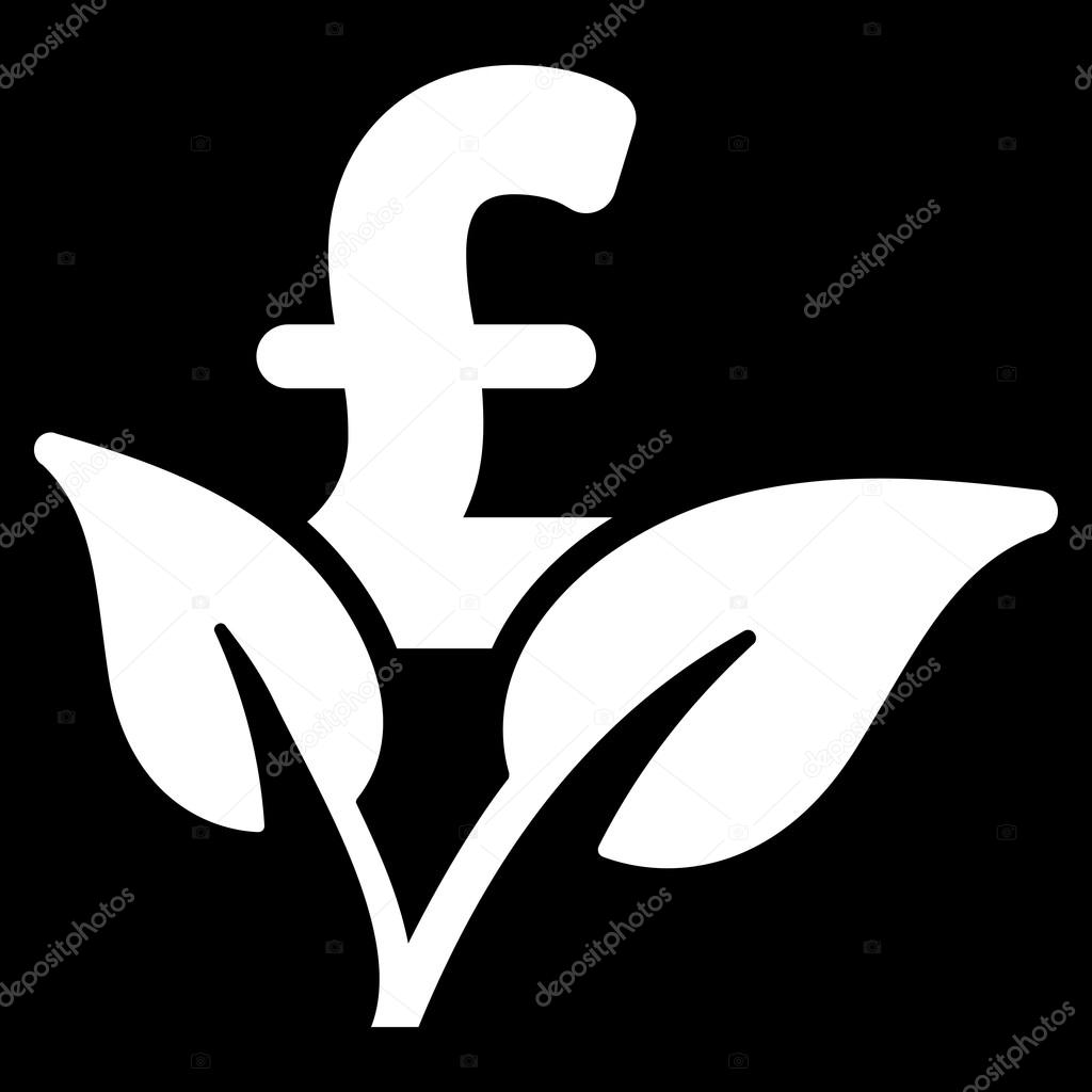 Eco Pound Business Startup Flat Vector Icon Symbol