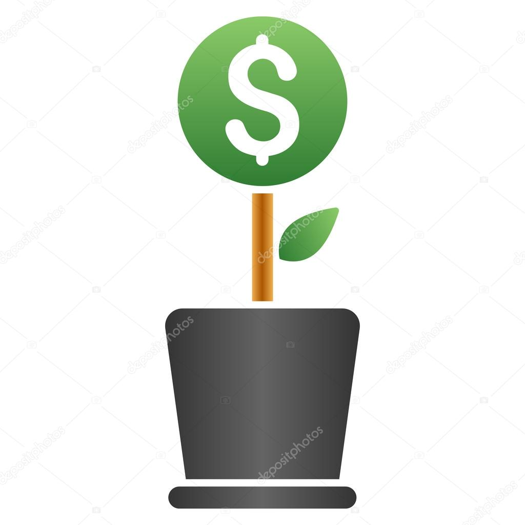 Business Project Plant Gradient Vector Icon