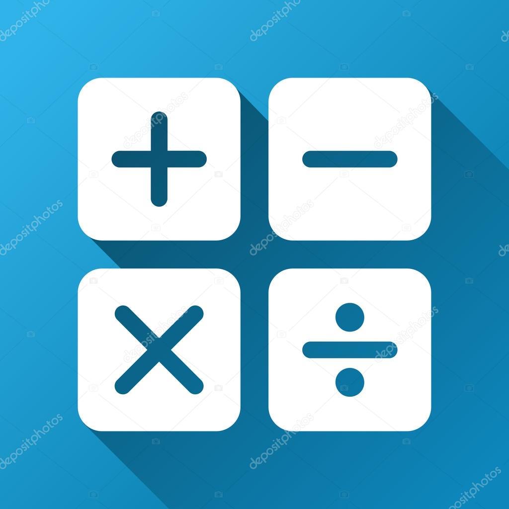 Calculator Gradient Square Icon — Stock Vector © ahasoft #105824820