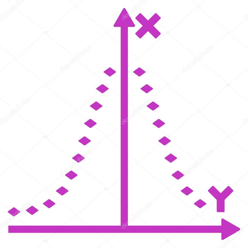 Trama de puntos de Gauss Vector icono de barra de herramientas ...