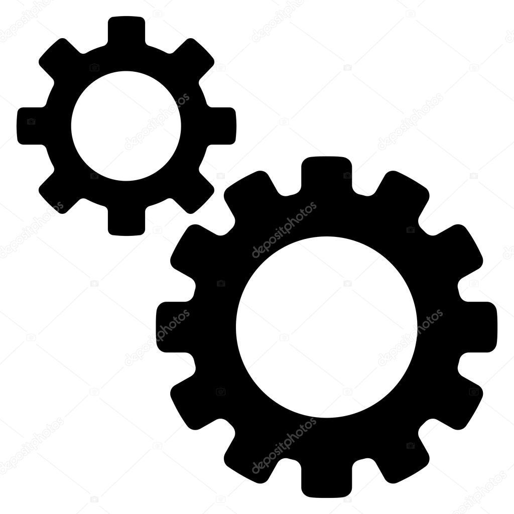 transmission gears platte vector icon stockvector. Black Bedroom Furniture Sets. Home Design Ideas