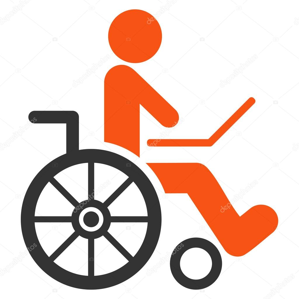 silla de ruedas vector