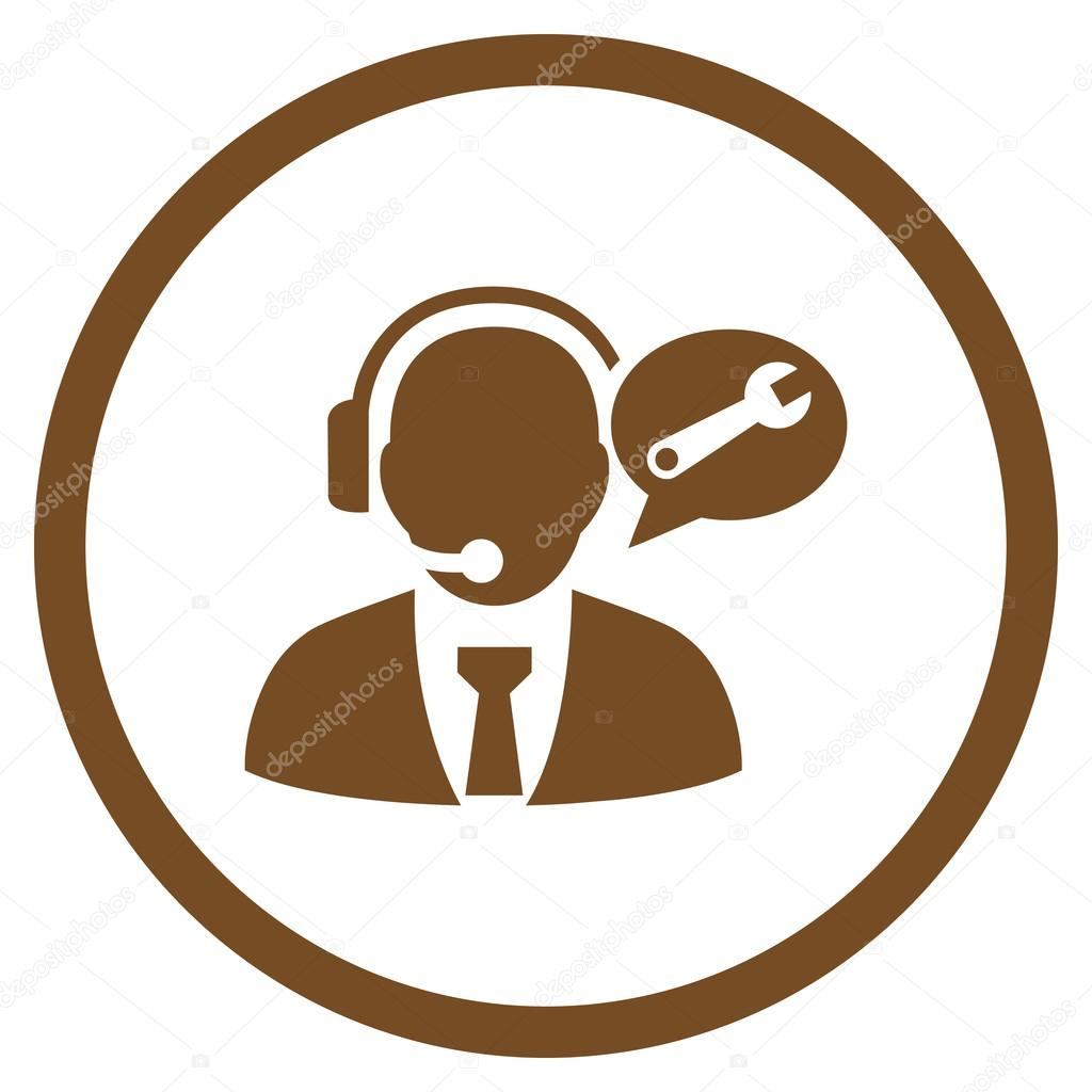 Service Manager Message Flat Rounded Vector Icon